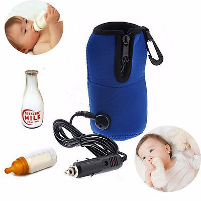 12V Food Milk Water Drink Bottle Cup Warmer Heater Car Auto Travel Baby OO