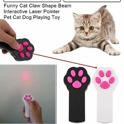 AU Funny Cat Claw Shape Beam Interactive Laser Pointer Pet Cat Dog Playing Toy I