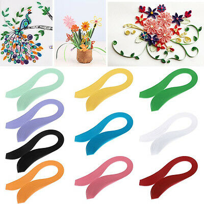 120 Quilling Paper Strips 3mm * 390mm Solid Color Origami Paper DIY Hand Craft