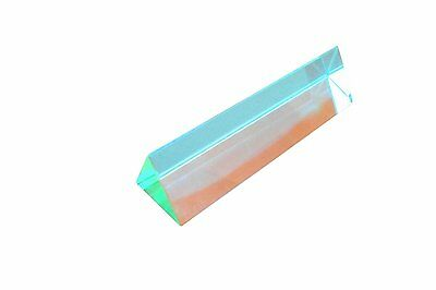 Ajax Scientific Optical Glass Equilateral Prism 25mm Length x 125mm Height