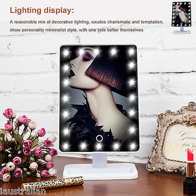 Ovonni Touch Screen  20 LEDs Make-up Cosmetic Mirror Adjustable Vanity Tabletop