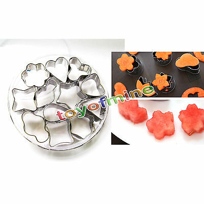12pcs Mini Metal Cookie Cutter Vegetable Cookie DIY Mould Cutter Set