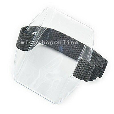 Arm Band ID Badge Holder Vertical Photo Armband Card Credit Transparent Clear
