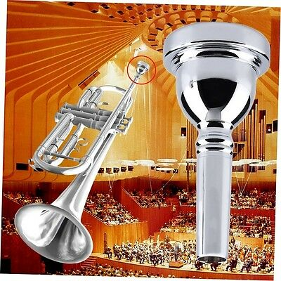 AU Trumpet Mouthpiece for Bach 7C Size Silver Plated Musical Instrument New ID