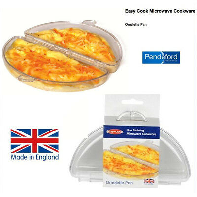 Breakfast Omelette Making Pan Easy Cook Clear Eggs Non Staining Microwave Safe
