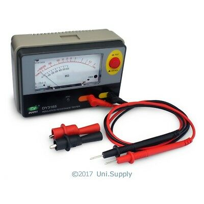 AMM Analogue Insulation Tester Megohm MegOhm Meter DC500V AC600V 1KM Ohm