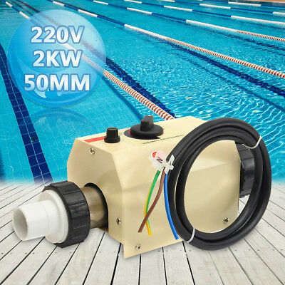 2KW 220V Water Swimming Pool&SPA Hot Tub Bath Heater Thermostat Electric Heating