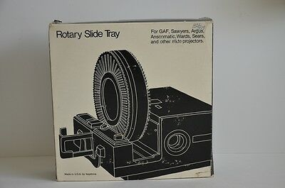 Keystone Slide Tray Carousels for GAF Sawyers Argus Anscomatic Slide Projector