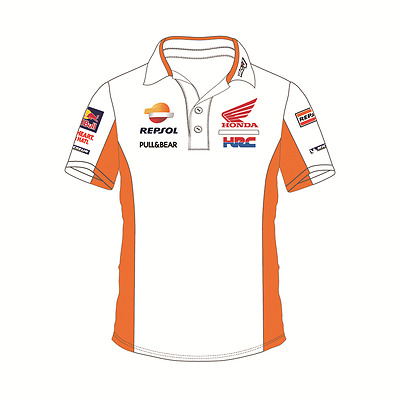 Honda Repsol Official Men's Moto GP Team HRC White Polo Shirt - 2017 (1718503)