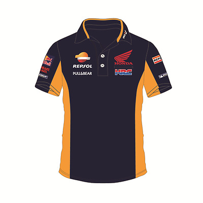 Honda Repsol Official Men's Moto GP Team HRC Blue Polo Shirt - 2017 (1718501)