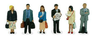 Bachmann Scenecraft Oo Scale 36-044 Station Passengers Standing 6 X Figures