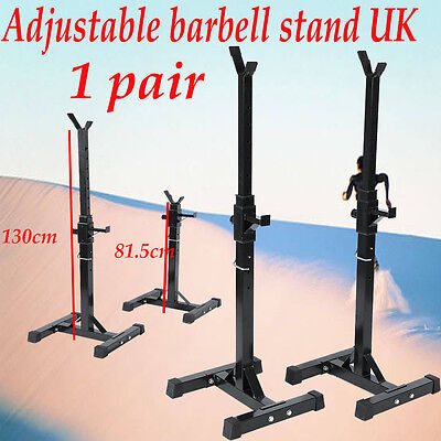 Home & Gym Squat Barbell Power Rack Holder Stand Press Weight Bench Sport - UK