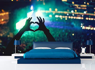 Love Heart - Concert Wall Mural Photo Wallpaper Image Decor Giant Paper Poster
