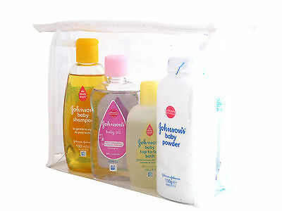 Johnsons & Pampers Baby Essentials Toiletry Travel Bath Bag