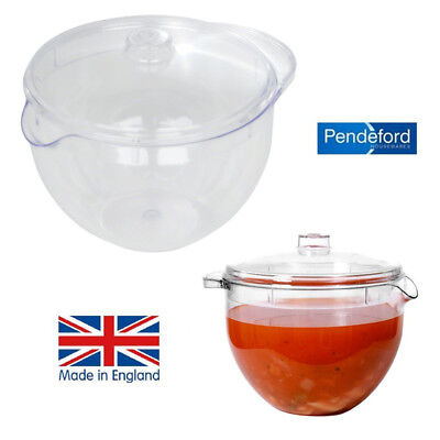 1.2Ltr Microwave JUG with Lid Clear Non Staining Clear Easy Cook Stock Pot NEW
