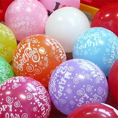 Happy Birthday Mix Printed balloons Helium gas BALLOON ALL  Birthday Party baloo