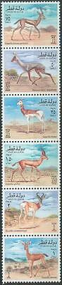 Qatar 1996 ** Mi.1068/73 Tiere Animals Gazelle Antilope