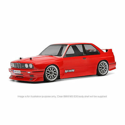 HPI BMW M3 E30 1/10 Clear Body Shell 200mm with Decal Sheet 17540