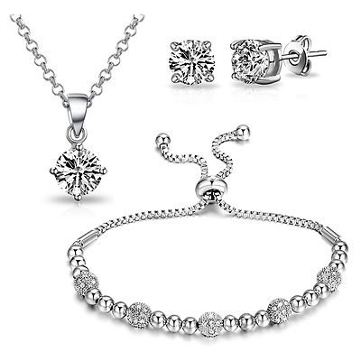 3Pc. Beaded Friendship Set with Crystals from Swarovski® in Gift Box