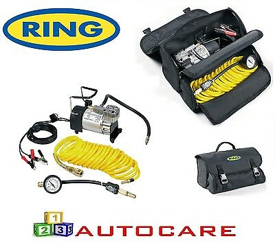 Ring 12v Heavy Duty Air Compressor & Accessories With Storage Bag