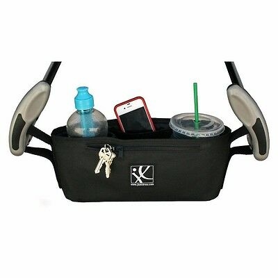 NEW J.L. Childress Cargo 'N Drinks Parent Tray For Strollers, Black
