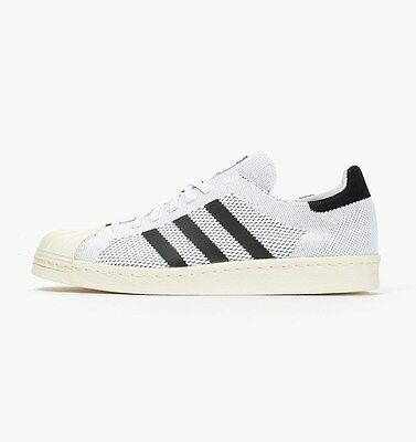 watch 8ba4a 26fc1 Adidas Superstar 80 s Primeknit - White black off White - S82779 - Uk 9