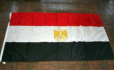 EGYPT Flag - Annin Nyl-Glo 100% NYLON Bunting LARGE 8 x 5 Foot QUALITY Flag