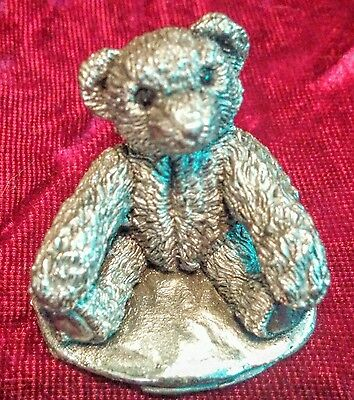 Birmingham .925 Sterling Silver Mini Teddy Bear Figurine CA Country Artists 1996