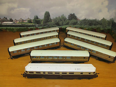 38Fp Lima Oo #22 Gwr Electric Engine & 7 Hornby Dublo Oo Scale Lner Coaches