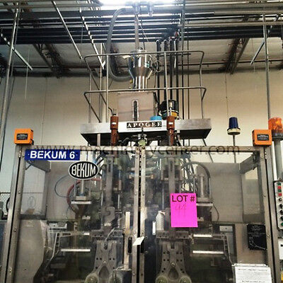 Bekum Dual Sided Continuous Extrusion Blow Molder - Sold with Mold
