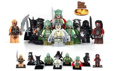 LEGO MINIFIGURES Lord of the Rings The Hobbit Action Figures Aragorn Soldier Orc