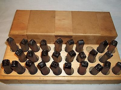"Antique Vintage 3/8"" Mathews Of Pittsburgh Steel Stamp Punch Die Letters Set"