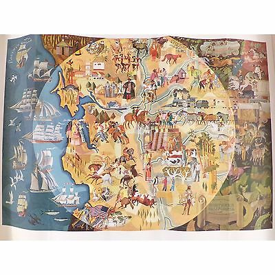1950 Pageant of History Pictograph Millard Sheets, Panorama of Today, California