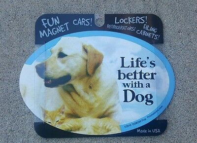 Life is Better with a Dog Magnets Dogs, Gifts, Cars, Trucks, Oval magnet, fridge