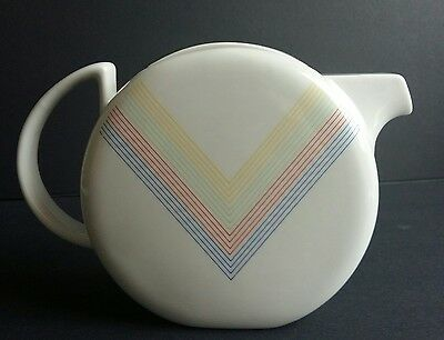 Micentury Modern Toscany Collection Japan Teapot Rainbow Chevron Interesting