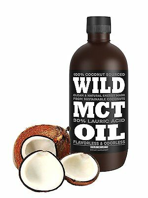 Wild MCT Oil With Lauric Acid Made From 100% Sustainable Coconuts, Flavorless,