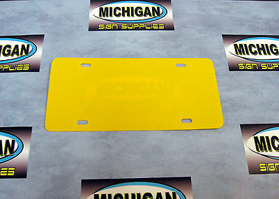 Yellow .050 Plastic License Plate Blank **Create Your Own Designs**
