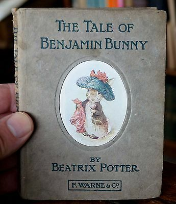 1904 1st Edition vintage book 'The Tale of Benjamin Bunny' by Beatrix Potter.