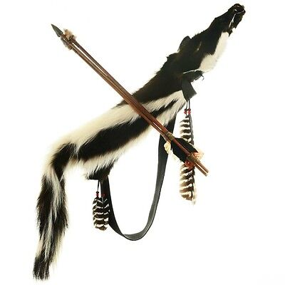 Dead Pawn Artifact Indian Skunk Fur Quiver with Arrows
