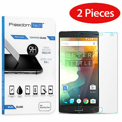 2-PACK 9H Premium Real HD Tempered Glass Screen Protector Film for OnePlus 2 Two