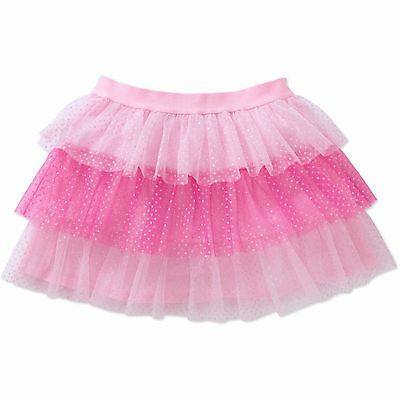 NWT Toddler Girl's Glitter Tulle Tier Tutu 3T Pink Skirt