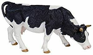 Papo Grazing Black and White Cow Figure
