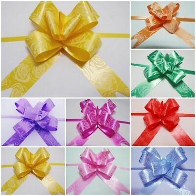 50 Pull Bow Ribbions Mix Colour for Car Decorations Tie Balloons Mothers Day