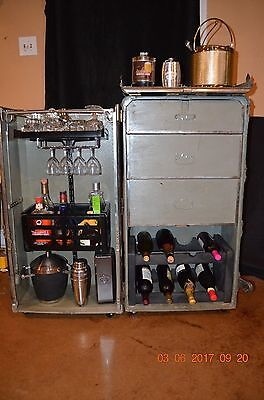vintage steamer trunk bar