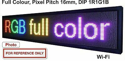 LED Sign Scrolling Message Board Full Colour Pixel Pitch 16mm DIP Outdoor 32x160