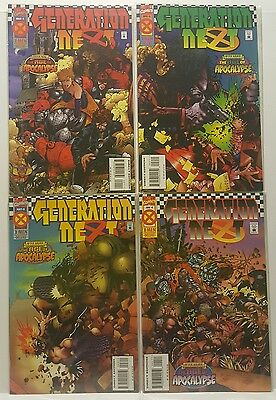Marvel Comics Generation Next #1, 2, 3, 4 SET 'Age of Apocalypse' 1995 VF/NM