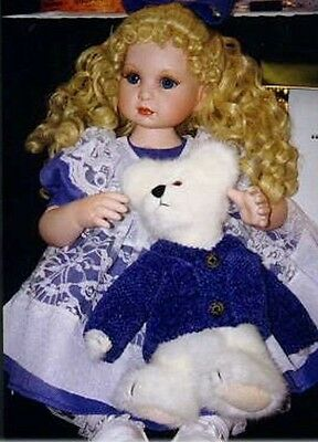 "Marie Osmond Beary Best Friends  14"" Seated Porcelain  Doll New In Box!"