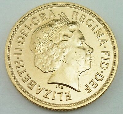 2012 Elizabeth II Great Britain 22k Gold Full Sovereign Coin UNCIRCULATED~3849B