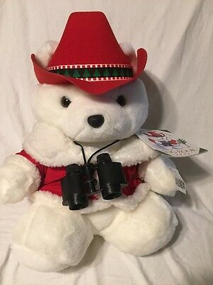 Dayton Hudson Marshall Fields Field's Santabear Santa Bear 1995 W/ Tag And Log