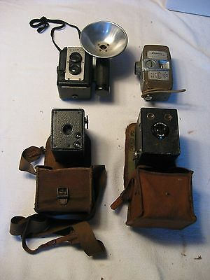Lot of  4 Vintage Cameras- Brownie, Argoflex, and Revere
